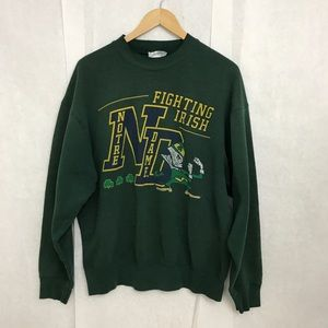 Vintage Distressed Notre Dame Crewneck Sweatshirt